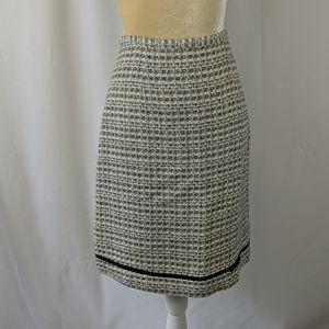 Anne Carson black and white textured pencil skirt